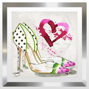 "BY Jodi ""Picnic Guest"" Framed Acrylic  Fashion Art Shoe"