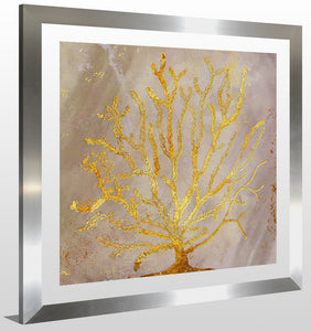 "BY Jodi ""Sea Coral 2"" Framed Acrylic  Fashion Art"