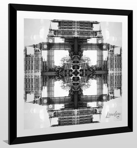 "BY Jodi ""Trippin In London Bw"" Framed Acrylic  Fashion Art"