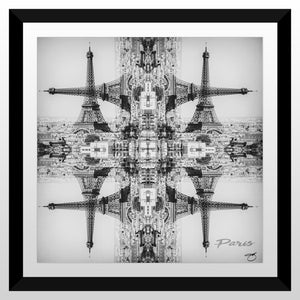 "BY Jodi ""Trippin In Paris Blk"" Framed Acrylic  Fashion Art"