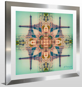 "BY Jodi ""Trippin In Paris"" Framed Acrylic  Fashion Art"