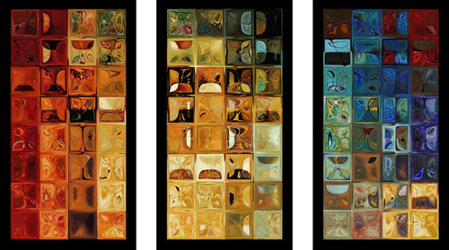 Acrylic Art  , Medium: Plexiglass/Acrylic , Framed Plexiglass Wall Art Set of 3