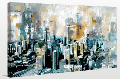 Toronto Painting Print on Wrapped Canvas