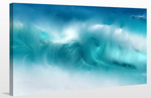 Mark Lawrence Blue Ocean Waves On The Beach Panoramic Canvas Wall Art