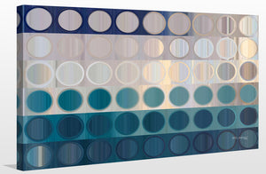 Mark Lawrence Circles and Squares 51 Ocean Blues Canvas Wall Art