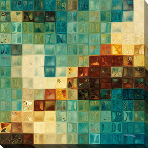 Mark Lawrence Aqua Tiles Canvas Wall Art