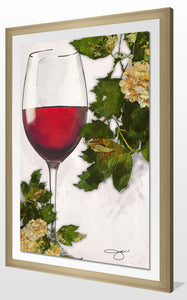"Acrylic Art , Frame: 2"" Champagne , Framed Plexiglass Wall Décor"