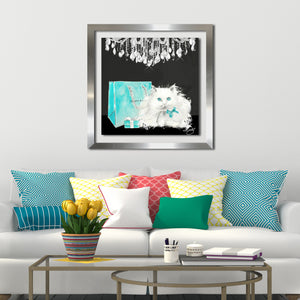 "Acrylic Art , Frame: 2"" Silver , Framed Plexiglass Wall Décor"