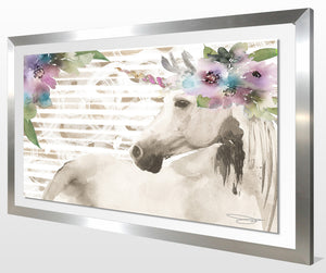"Acrylic Art , Frame: 2"" Stainless , Framed Plexiglass Wall Décor"