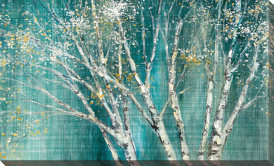 Blue Birch Horizontal by Julia Purinton Print on Canvas Landscapes,Green art,Landscape Shape,All Canvas Art,Julia Purington