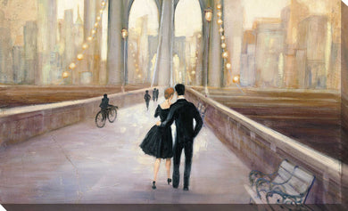 Bridge to NY IV by Julia Purinton Print on Canvas Cityscapes,Romance,Brown art,Landscape Shape,All Canvas Art,Julia Purington