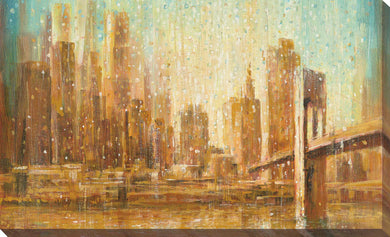 Champagne City IV Print on Canvas Cityscapes,Orange art,Landscape Shape,All Canvas Art,Danhui Nai