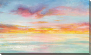 Pastel Sky Print on Canvas Abstract,Blue art,Landscape Shape,All Canvas Art,Danhui Nai