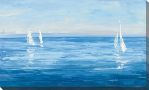 Open Sail with Turquoise by Julia Purinton Print on Canvas Sea and Shore,Blue art,Landscape Shape,All Canvas Art,Julia Purington