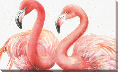 Gracefully Pink I by Lisa Audit Print on Canvas Animals,Red art,Landscape Shape,All Canvas Art,Lisa Audit