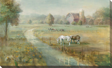 Tranquil Farm Print on Canvas Landscapes,Green art,Landscape Shape,All Canvas Art,Danhui Nai