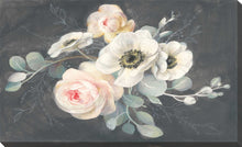 Roses and Anemones Print on Canvas Floral,Gray art,Landscape Shape,All Canvas Art,Danhui Nai