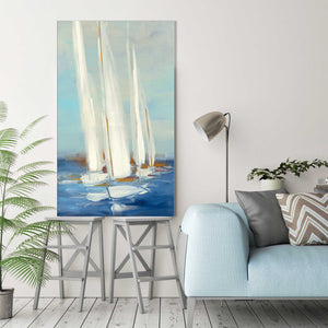 Summer Regatta II by Julia Purinton Print on Canvas Sea and Shore,Blue art,Portrait Shape,All Canvas Art,Julia Purington