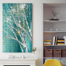 Blue Birch Horizontal III by Julia Purinton Print on Canvas Landscapes,Green art,Portrait Shape,All Canvas Art,Julia Purington