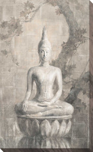 Buddha Neutral Print on Canvas Spiritual,Gray art,Portrait Shape,All Canvas Art,Danhui Nai