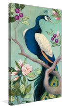 Pretty Peacock I by Julia Purinton Print on Canvas Floral,Green art,Portrait Shape,All Canvas Art,Julia Purington