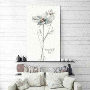 A Country Weekend VI by Lisa Audit Print on Canvas Floral,White art,Portrait Shape,All Canvas Art,Lisa Audit