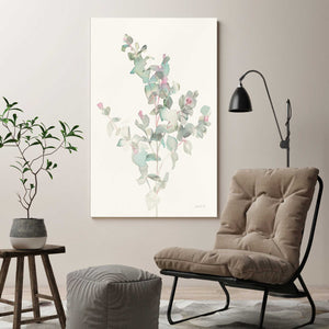 Eucalyptus II Print on Canvas Floral,White art,Portrait Shape,All Canvas Art,Danhui Nai