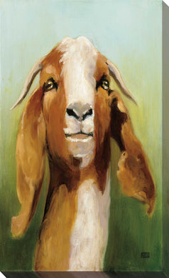 Got Your Goat by Julia Purinton Print on Canvas Animals,Green art,Portrait Shape,All Canvas Art,Julia Purington