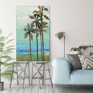 Copper Palms I by Silvia Vassileva Print on Canvas Landscapes,Blue art,Portrait Shape,All Canvas Art,Silvia Vassileva