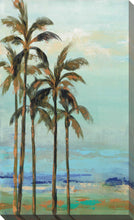 Copper Palms II by Silvia Vassileva Print on Canvas Landscapes,Blue art,Portrait Shape,All Canvas Art,Silvia Vassileva