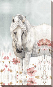 Wild Horses II Crop by Lisa Audit Print on Canvas Animals,Gray art,Portrait Shape,All Canvas Art,Lisa Audit