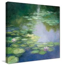 Blue Lily I by Julia Purinton Print on Canvas Landscapes,Green art,Square Shape,All Canvas Art,Julia Purington