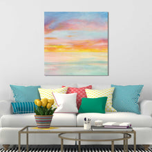 Pastel Sky II Print on Canvas Abstract,Blue art,Square Shape,All Canvas Art,Danhui Nai