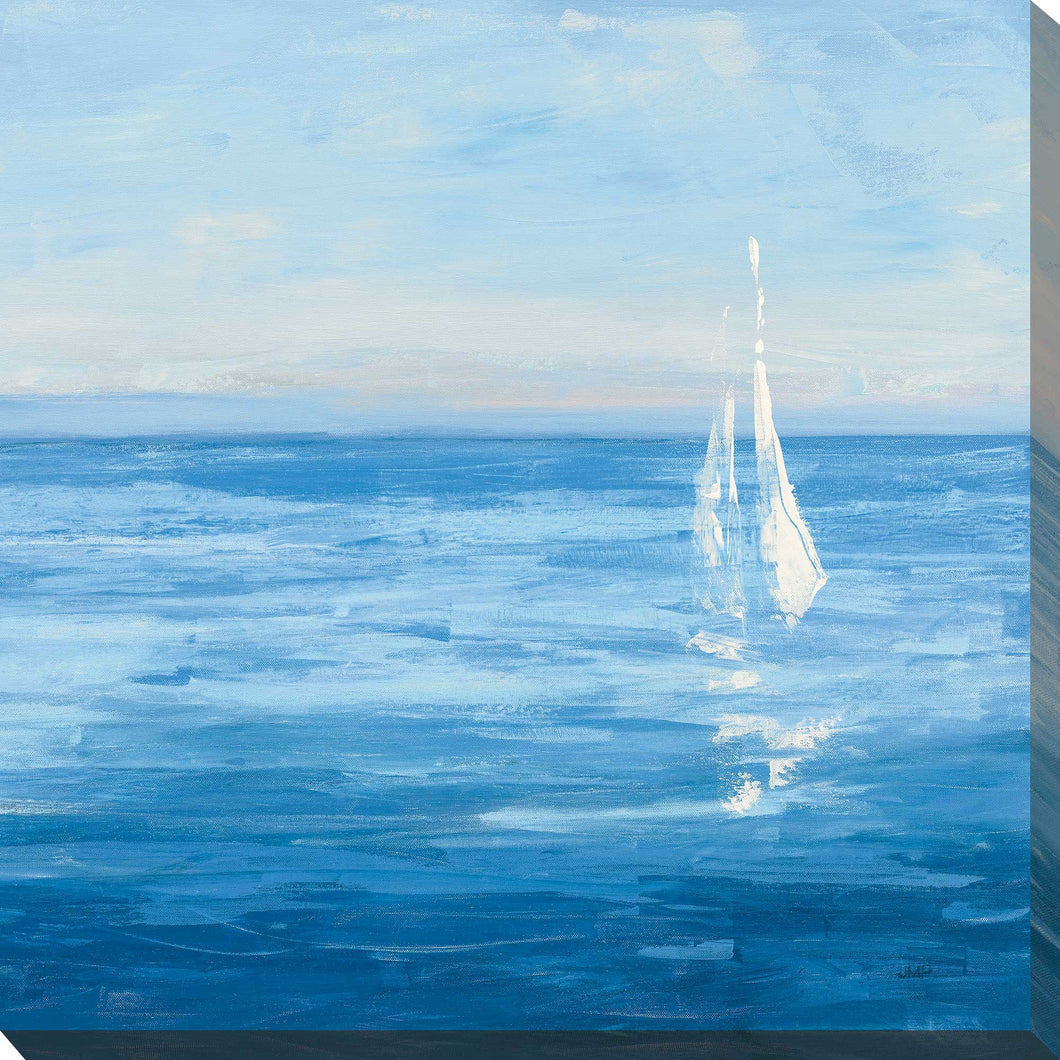 Open Sail with Turquoise II by Julia Purinton Print on Canvas Sea and Shore,Blue art,Square Shape,All Canvas Art,Julia Purington