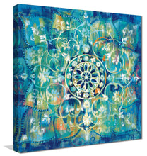 Mandala in Blue I Bright I Print on Canvas Abstract,Blue art,Square Shape,All Canvas Art,Danhui Nai