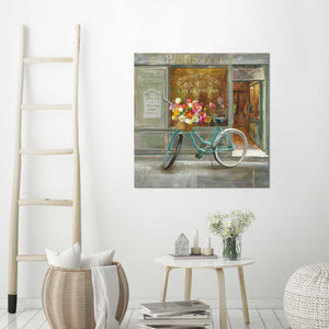 French Flowershop Print on Canvas Food and beverage,Gray art,Square Shape,All Canvas Art,Danhui Nai