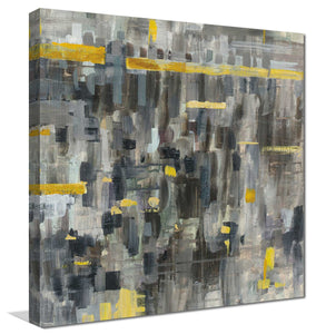Reflections Crop II Print on Canvas Abstract,Gray art,Square Shape,All Canvas Art,Danhui Nai