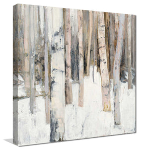 Warm Winter Light I by Julia Purinton Print on Canvas Landscapes,White art,Square Shape,All Canvas Art,Julia Purington