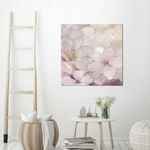 Apple Blossoms II by Julia Purinton Print on Canvas Floral,Pink art,Square Shape,All Canvas Art,Julia Purington