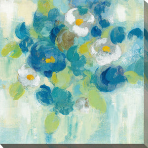 Spring Aroma III Yellow by Silvia Vassileva Print on Canvas Floral,Blue art,Square Shape,All Canvas Art,Silvia Vassileva