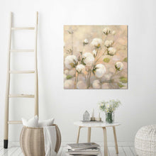 Cotton Field II by Julia Purinton Print on Canvas Floral,Yellow art,Square Shape,All Canvas Art,Julia Purington