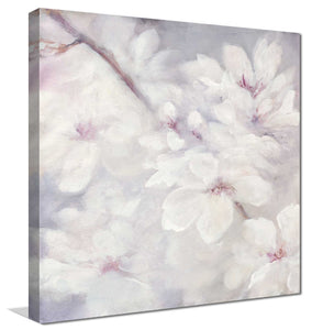 Cherry Blossoms I by Julia Purinton Print on Canvas Floral,Gray art,Square Shape,All Canvas Art,Julia Purington