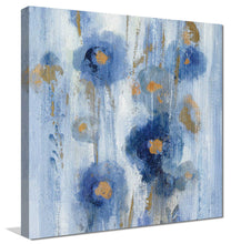 Seaside Flowers IB by Silvia Vassileva Print on Canvas Floral,Blue art,Square Shape,All Canvas Art,Silvia Vassileva