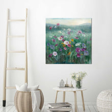 Cosmos at Dawn Print on Canvas Floral,Green art,Square Shape,All Canvas Art,Danhui Nai
