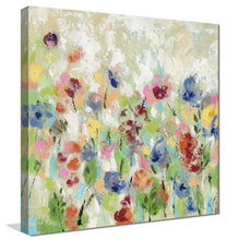 Springtime Meadow Flowers I by Silvia Vassileva Print on Canvas Floral,Green art,Square Shape,All Canvas Art,Silvia Vassileva