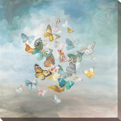 Beautiful Butterflies Print on Canvas Animals,Blue art,Square Shape,All Canvas Art,Danhui Nai