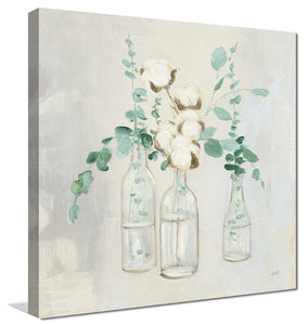 Summer Cuttings II by Julia Purinton Print on Canvas Floral,Gray art,Square Shape,All Canvas Art,Julia Purington
