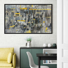Reflections Crop Print on Canvas in Floating Frame Abstract,Gray art,Landscape Shape,All Floating Canvas,Danhui Nai