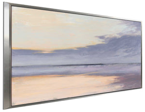 Shore by Julia Purinton Print on Canvas in Floating Frame Sea and Shore,Purple art,Landscape Shape,All Floating Canvas,Julia Purington