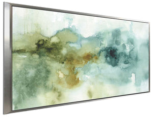 My Greenhouse Abstract I no Gold by Lisa Audit Print on Canvas in Floating Frame Abstract,Green art,Landscape Shape,All Floating Canvas,Lisa Audit